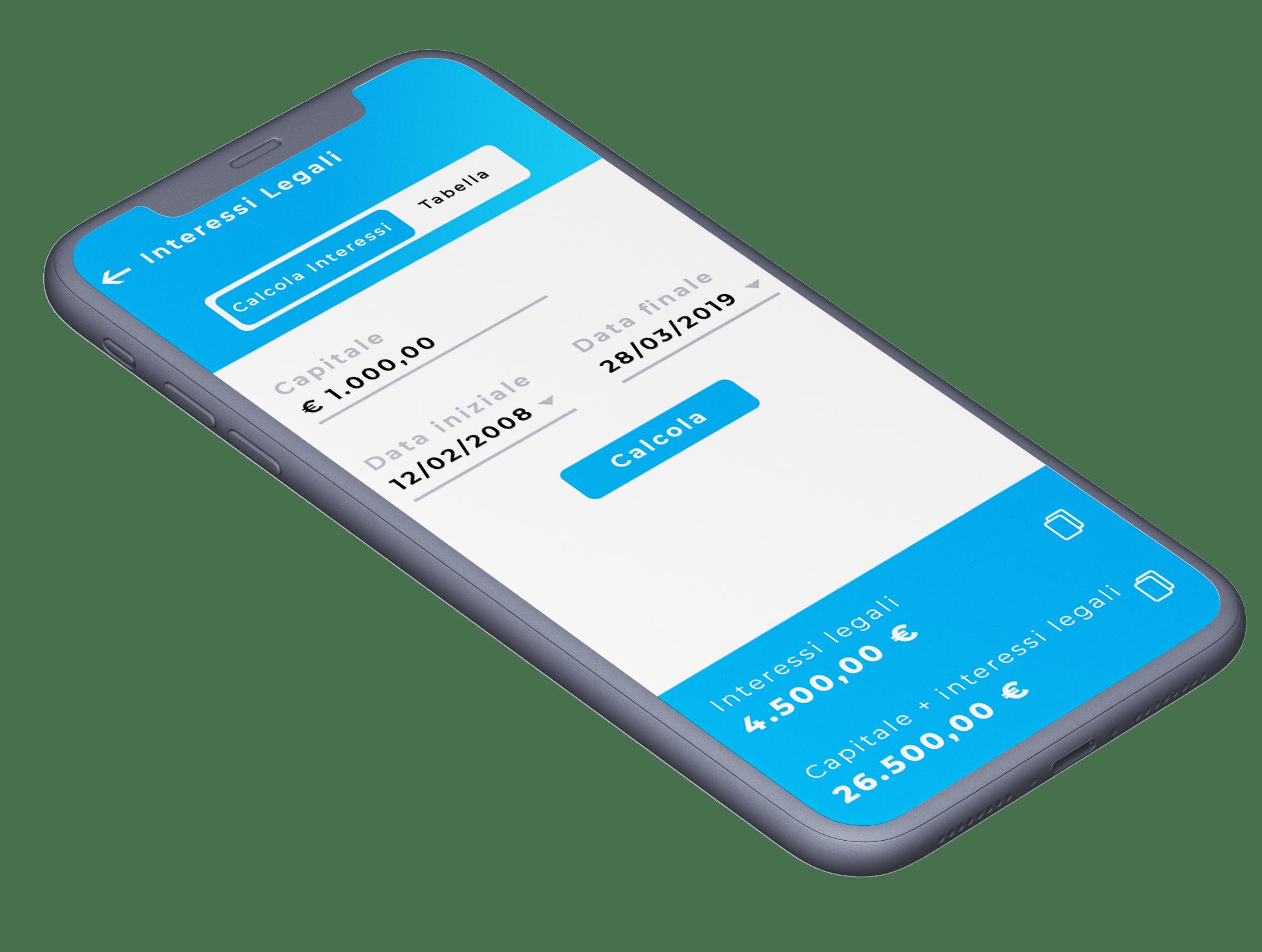 App Lex 365 - risorse legali di calcolo